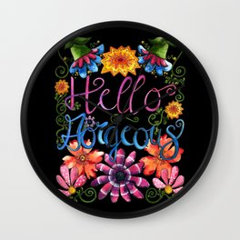 Hello Gorgeous! Wall Clock
