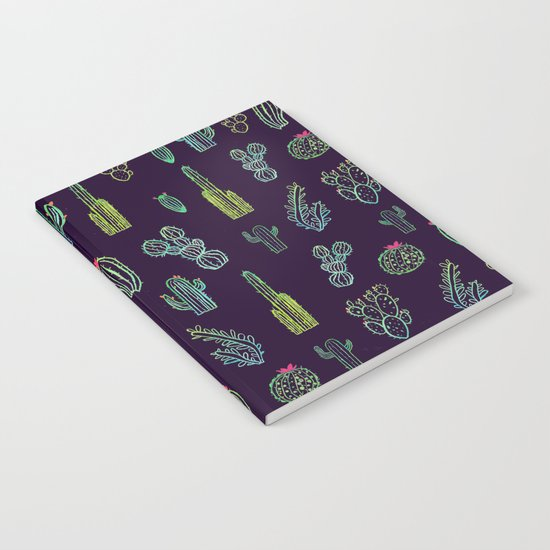 Dark Watercolour Cactus Notebook