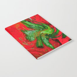 Strawberry Fruit Art Deco Notebook