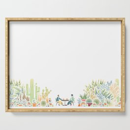 Chai and Cacti - color Serving Tray