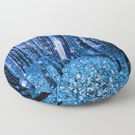 Magical Forest Bluest Blue Floor Pillow
