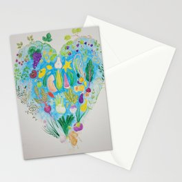 Heart food Stationery Cards