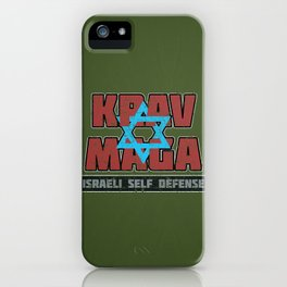 Israeli Krav Maga Magen David iPhone Case