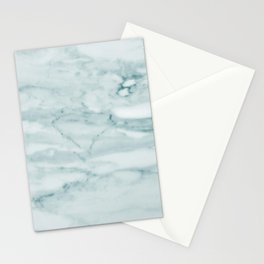 Marble Pale Teal Sea Green Marble Stationery Cards