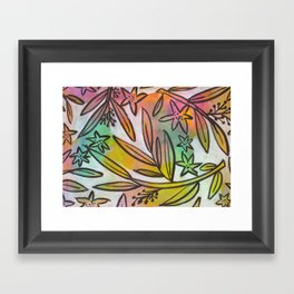 Bright Colorful Jungle Canopy Framed Art Print