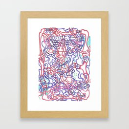 Capillary Reaction  Framed Art Print