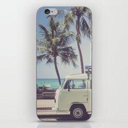 bus, van, beach, hippie, tropical, summer, travel, explore, adventure, wanderlust, travel van, boho iPhone Skin