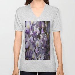 Close Up Of Lavender Wisteria Blossom Unisex V-Neck