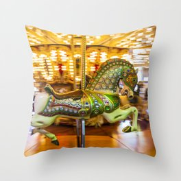 Merry Go Round Carousel Horse Throw Pillow