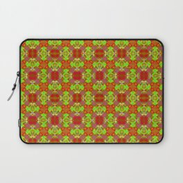 Exotic Ruby & Lime Tile Laptop Sleeve