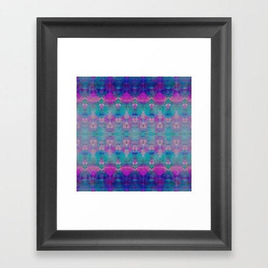 Watercolour Tribal Pink Framed Art Print