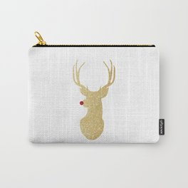 Rudolph The Red-Nosed Reindeer | Gold Glitter Carry-All Pouch