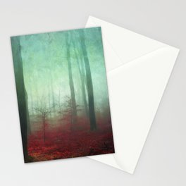 red forest floor Stationery Cards