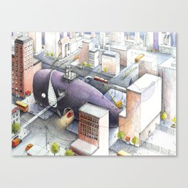 Whale Belly Up Canvas Print