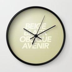 MetaType Beige Wall Clock