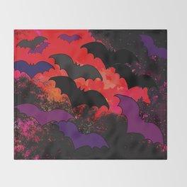 Bats In Flight Throw Blanket