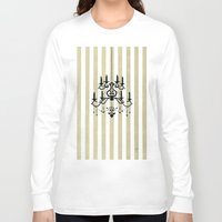 chandelier Long Sleeve T-shirts featuring Chandelier shade  by Huda Mulla