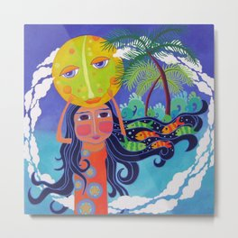 Luna and Me, Dream of the Sea Metal Print