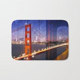 City Art Golden Gate Bridge Composing Bath Mat