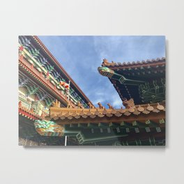 Chinese roof tops Metal Print