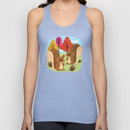 Let The Acorns Fall Unisex Tank Top