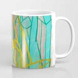 Crystals - Cyan Coffee Mug
