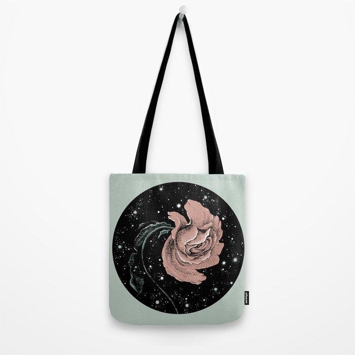 Warped Rose Tote Bag