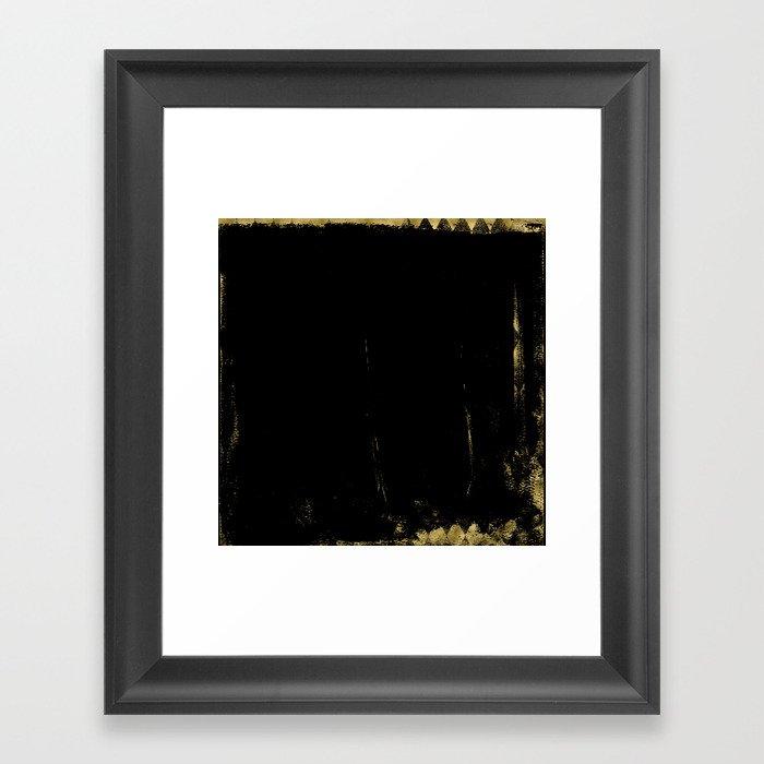 Black and Gold grunge modern abstract background I Framed Art Print