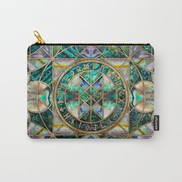 Web of Wyrd The Matrix of Fate -Abalone Shell Carry-All Pouch