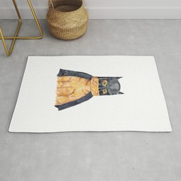 Bat man inspired cat Painting Wall Poster Watercolor Rug