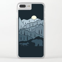 Bear and Fox Clear iPhone Case
