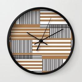 lines pattern design Wall Clock