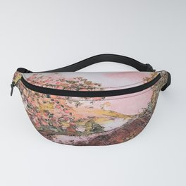 Cherry Tree by the Waterfall Fanny Pack