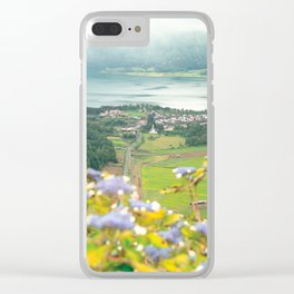 Sete Cidades crater lake Clear iPhone Case