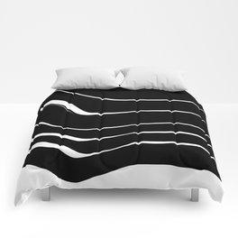Organic No. 10 Black & White #minimalistic #design #society6 #decor #artprints Comforters