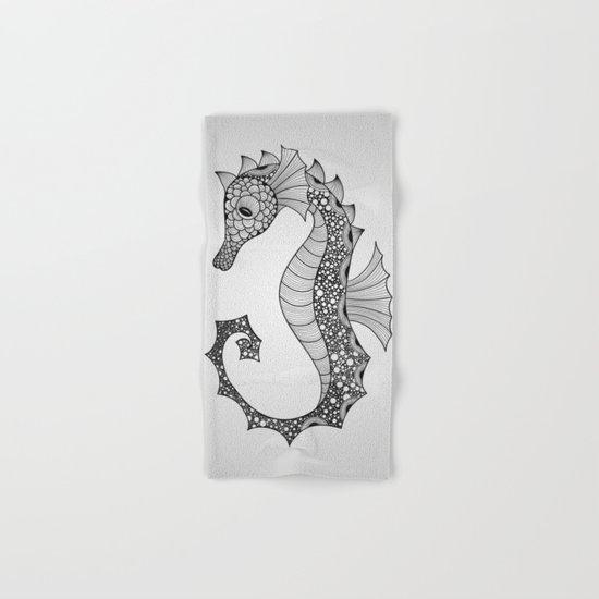 Drawn Seahorse Hand & Bath Towel