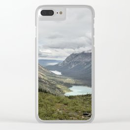 Three Lakes Viewed from Grinnell Glacier Clear iPhone Case