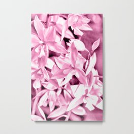 Cascading orchids - Pink Metal Print
