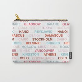Citytype No.1 - Multi/White Carry-All Pouch