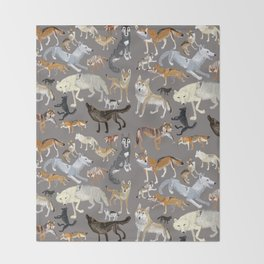 Wolves of the world 1 Throw Blanket