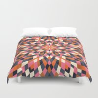 quilt Duvet Covers featuring Firework Quilt by Little Things Studio