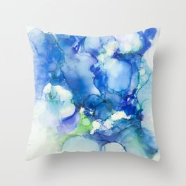 Something New and Blue Throw Pillow