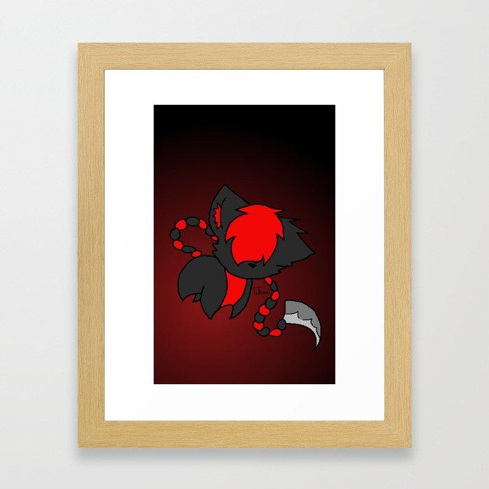Scythe Tail Framed Art Print