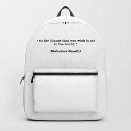 Mahatma Gandhi Quote Backpack