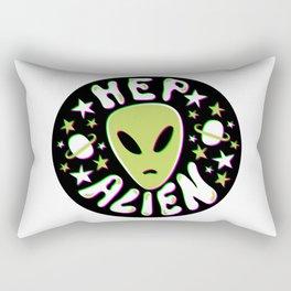 Hep Alien in 3D Rectangular Pillow