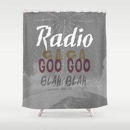 Radio Blah Blah Shower Curtain
