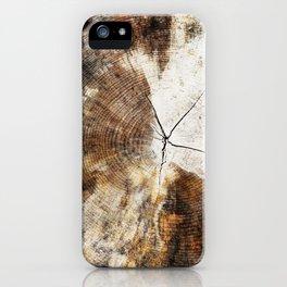 Tree Stump Ring iPhone Case