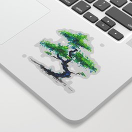 Blue Bonsai Sticker