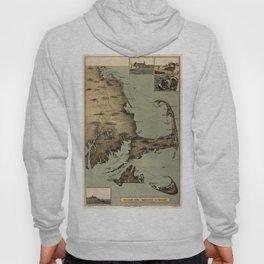 Map of Nantucket Boston 1885 Hoody
