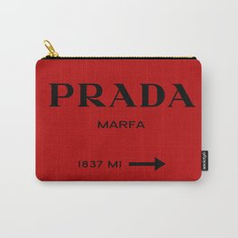 Marfa print in red and black Carry-All Pouch